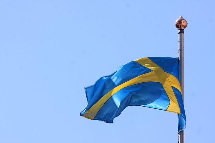 Zviedrijas karogs.