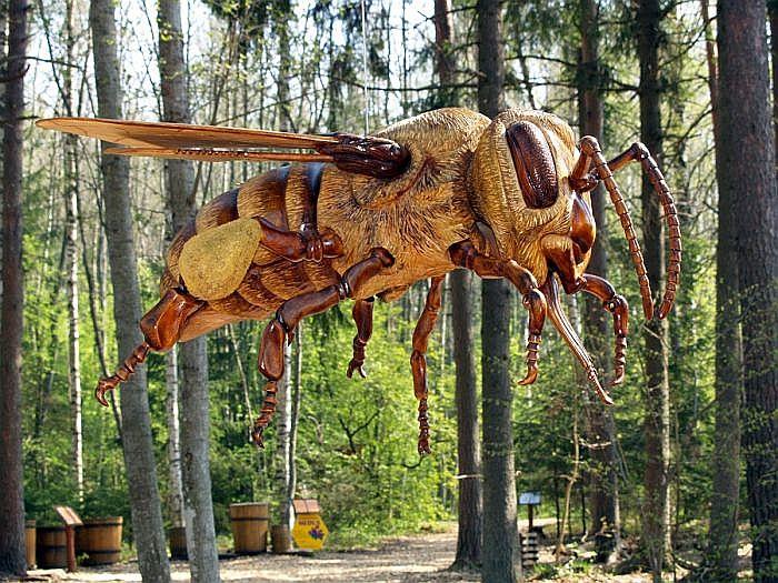 Bišu taka ir kokgriezēja Ģirta Freiberga meistardarbs.