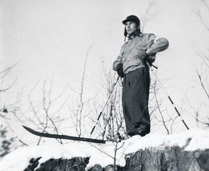 """""""Jaunāko Ziņu"""" korespondents Indriķis Kaģis Somijā 1939. gada Ziemassvētkos."""