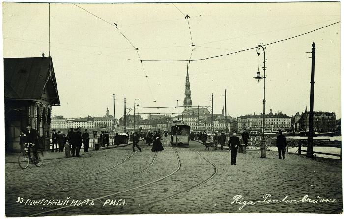 Rīgas Pontontilts, 20. gadsimta sākums.