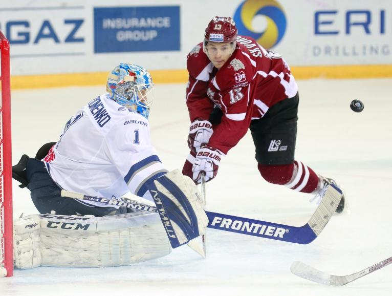 """Gunārs Skvorcovs vēl Rīgas """"Dinamo"""" formā."""