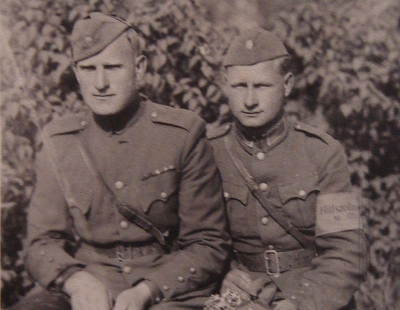 256. lietuviešu policijas (robežsardzes) bataljona karavīri Ziemupē. 1945. gada pavasaris.