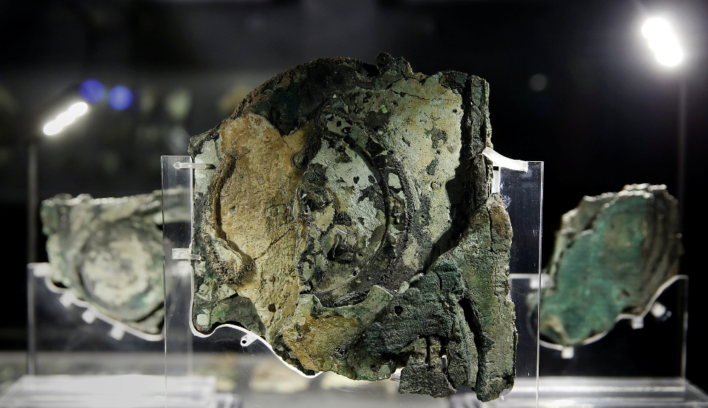 Antikitēras mehānisma fragments.