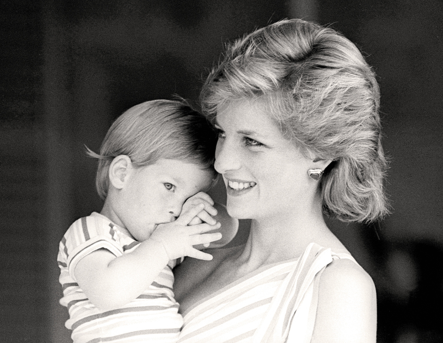 Diāna ar princi Hariju, 1988. gads.