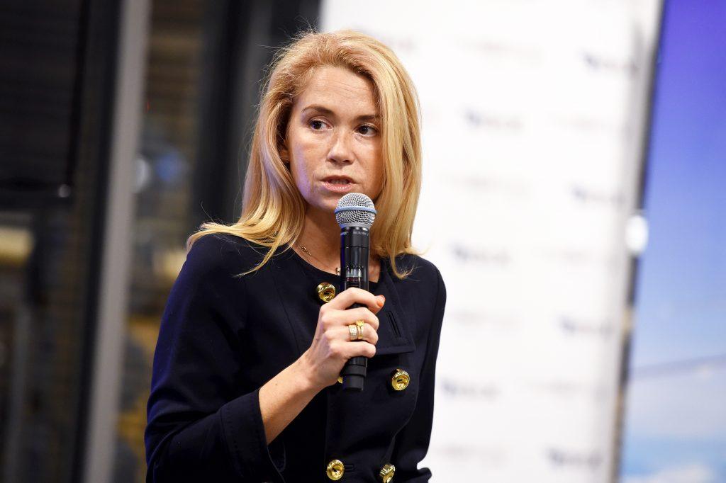 """Lidostas """"Rīga"""" valdes priekšsēdētāja Ilona Līce  piedalās lidsabiedrības """"airBaltic"""" tiešā lidojuma no Rīgas uz Abū Dabī atklāšanas pasākumā starptautiskajā lidostā """"Rīga""""."""