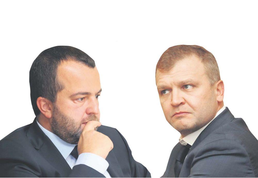 """""""ABLV Bank"""" lielākie akcionāri – Oļegs Fiļs (no labās) un valdes priekšsēdētājs Ernests Bernis (no kreisās)."""
