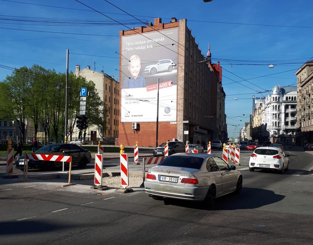 Brīvības iela Rīgā, 2018.gada maijā.