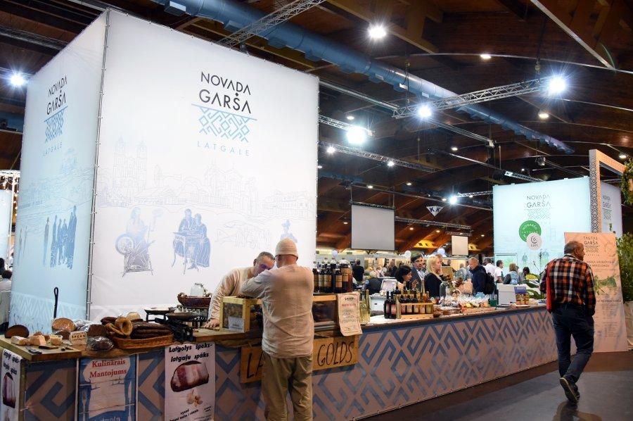 """Novadu garšas stends izstādē """"Riga Food""""."""