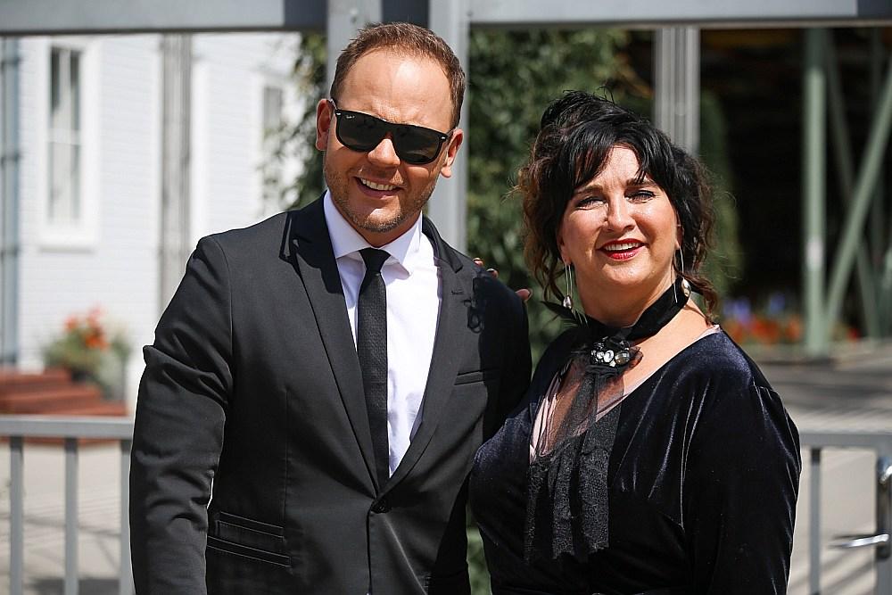 Koncerta vadītāji Lauris Reiniks un Baiba Sipeniece-Gavare.
