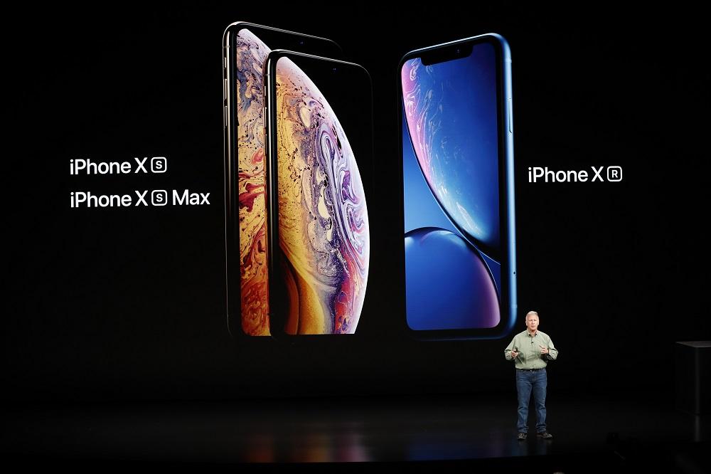 """Kompānijas """"Apple"""" prezentācijas pasākums."""