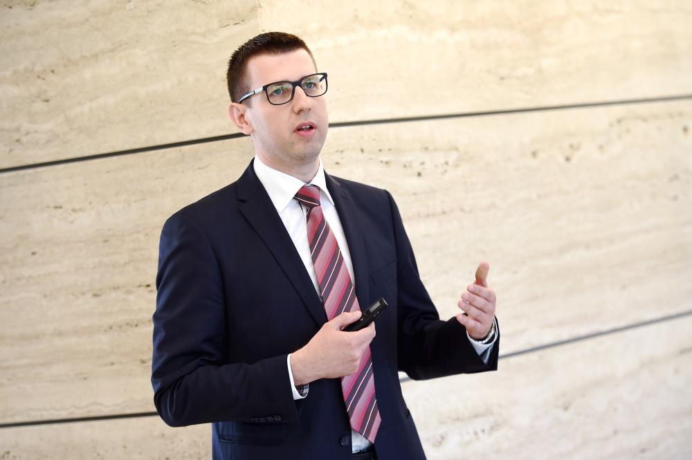 """Bankas """"Citadele"""" ekonomists Mārtiņš Āboliņš."""