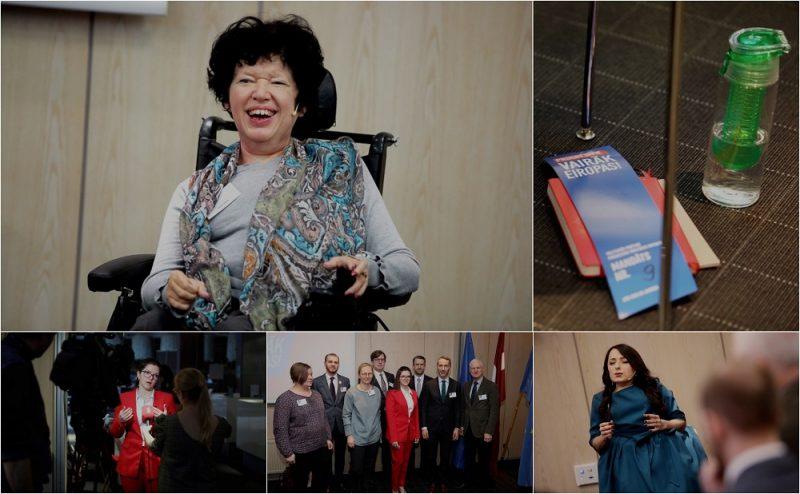 """Partijas """"Progresīvie"""" pārstāvju sapulce viesnīcā """"Tallink Hotel Riga""""."""