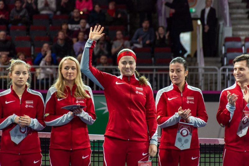 Latvijas sieviešu tenisa izlasi Federāciju kausa spēlēs aprīlī pašu mājās vēl neredzēsim.