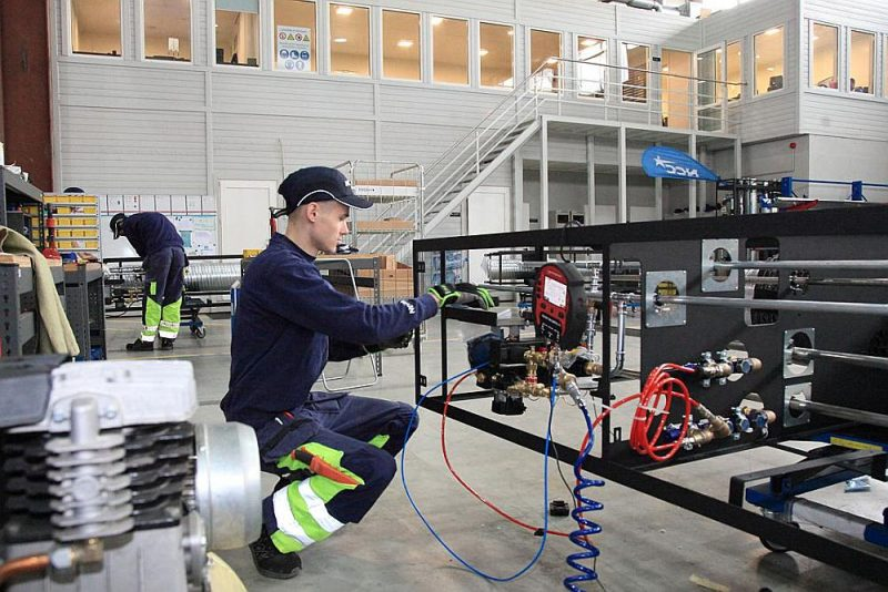 """SIA """"NCC Shaft"""" produkta ideja – gaisa, ūdens un elektrības šahtas – radusies no kvalificēta darbaspēka trūkuma būvobjektos."""