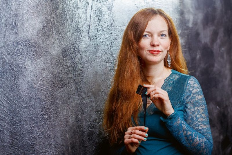 Linda Rozenbaha: Šeit matus pirmo reizi dzīvē esmu nokrāsojusi pati, ar hennas bāzes krāsu.