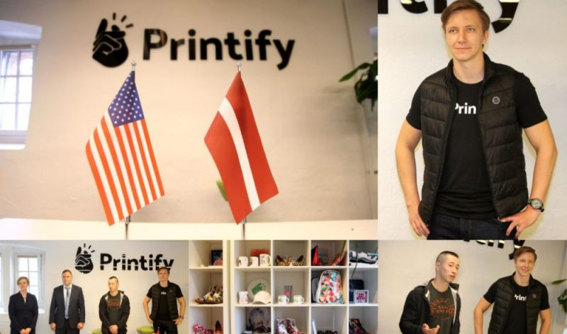 """Latvijas Jaunuzņēmums """"Printify"""" piesaistījis 2,672 miljonu eiro investīcijas turpmākai izaugsmei."""