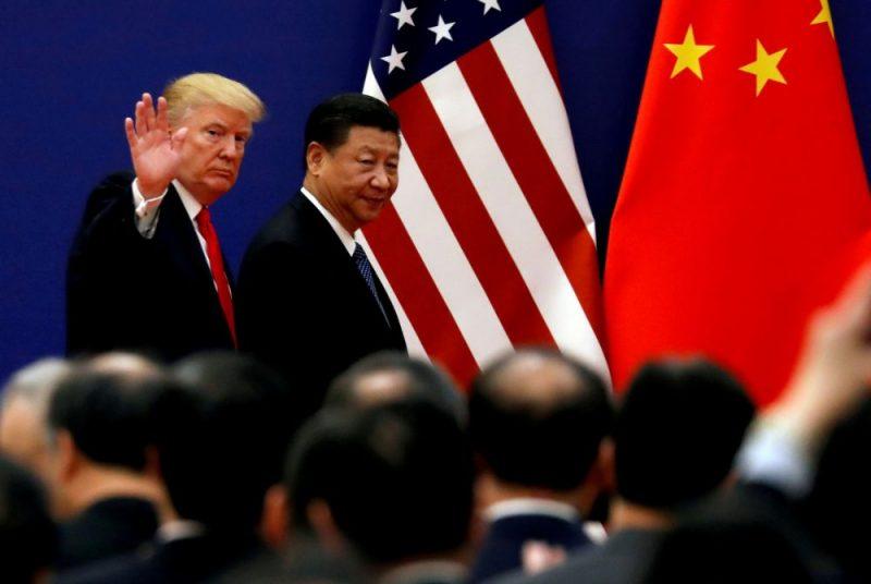 ASV prezidents Donalds Tramps un Ķīnas prezidents Sji Dzjiņpins.