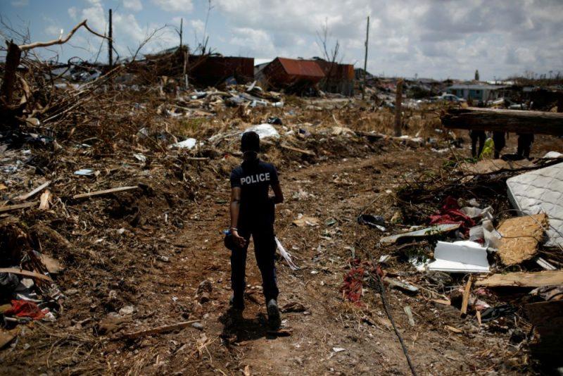 """Viesuļvētras """"Dorians"""" postījumi Bahamu salās."""