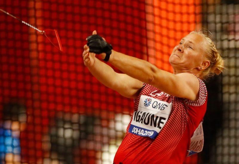 Laura Igaune pasaules čempionāta debijā.