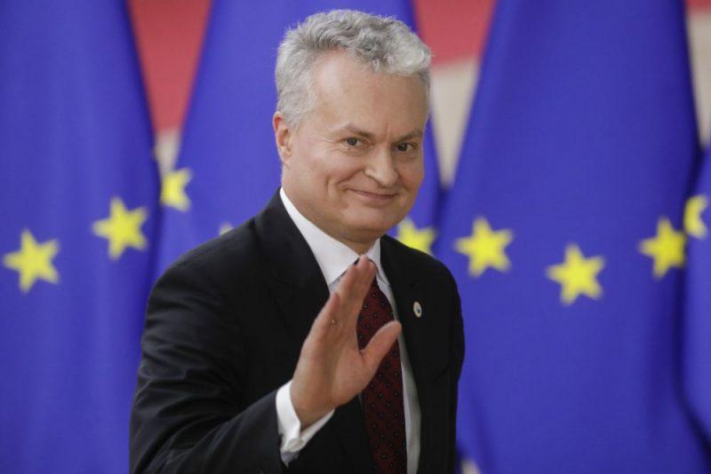 Lietuvas prezidents Gitans Nausēda.