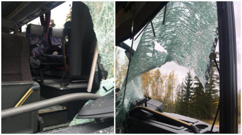 Attēli no negadījuma vietas Ventspils novadā, Usmas pagastā
