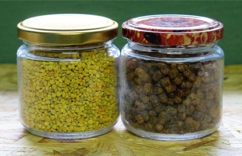 Ziedputekšņi var būt ne tikai dzeltenīgi, bet arī pelēcīgi un pat zilgani– krāsu nosaka augi, no kā putekšņi ņemti. Sevišķi vērtīgs produkts ir bišu maize– bišu jau fermentēti ziedputekšņi.