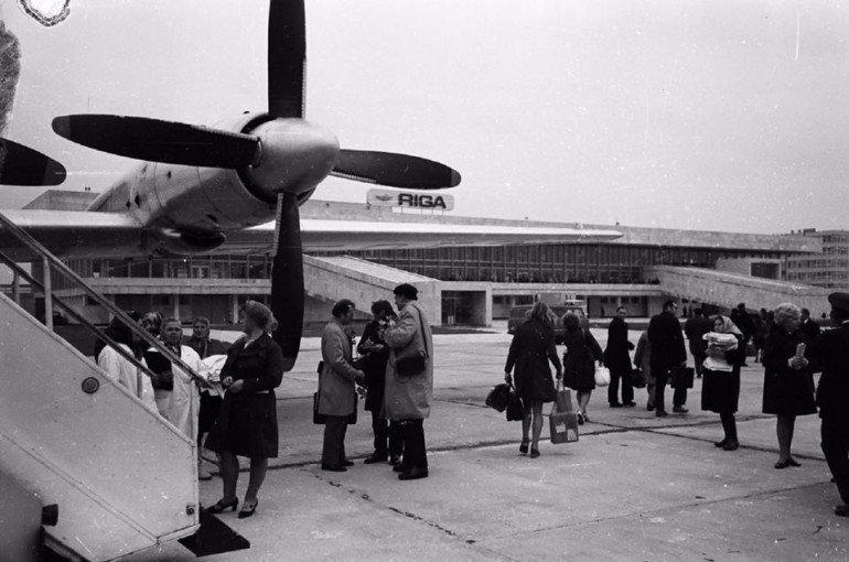Rīgas lidosta 80. gadu sākumā.