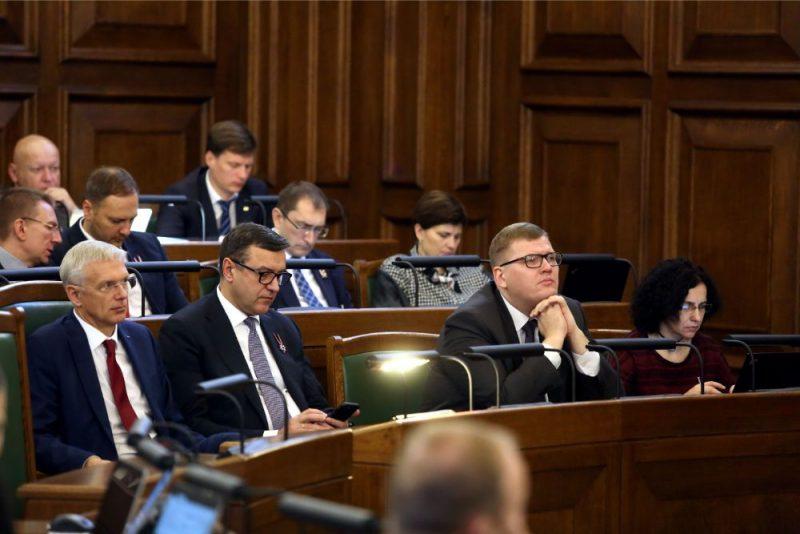 Saeimas ārkārtas sēde, kurā otrajā lasījumā izskata gadskārtējo valsts budžetu un ar to saistīto likumprojektu.