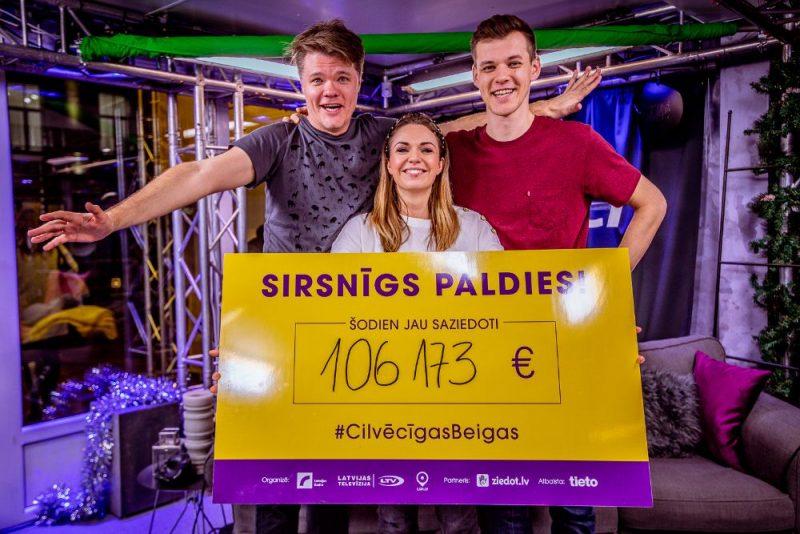 """Labdarības maratonā """"Dod pieci!"""" piedalās daudzi mūziķi no Latvijas, 20.12.2019."""