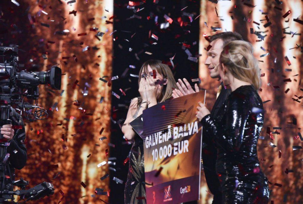 """Šova """"X Faktors"""" uzvarētāja Elīna Gluzunova."""