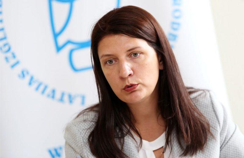 Latvijas Izglītības un zinātnes darbinieku arodbiedrības (LIZDA) priekšsēdētāja Inga Vanaga.