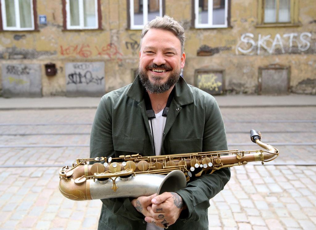 Saksofonists Deniss Paškevičs.
