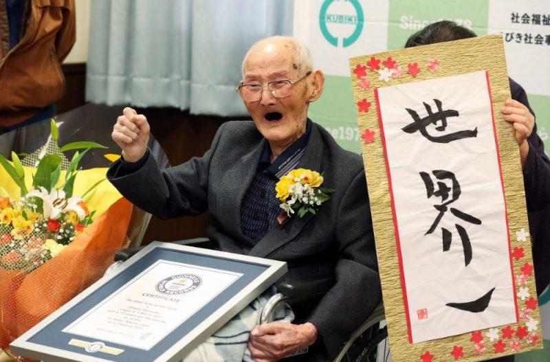 Ginesa pasaules rekordu grāmata trešdien 112 gadus vecu japāni atzinusi par pasaulē vecāko dzīvojošo vīrieti, 12.02.2020.