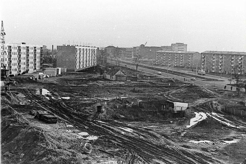 Ķengaraga būvniecība 60. gadu vidū.