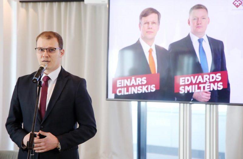 """Preses konference, kurā """"Latvijas Reģionu apvienība"""" un Nacionālā apvienība """"Visu Latvijai!""""-""""Tēvzemei un Brīvībai/LNNK"""" informē par kopīgu startu gaidāmajās Rīgas domes ārkārtas vēlēšanās."""