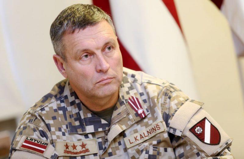 NBS komandieris Leonīds Kalniņš.