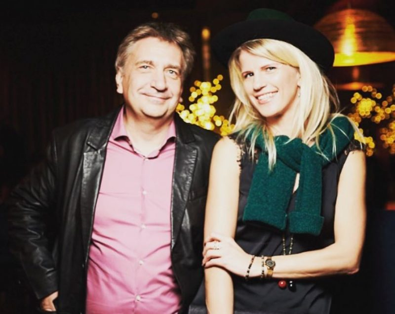 Andrejs Ēķis kopā ar mīļoto sievu Dainu.