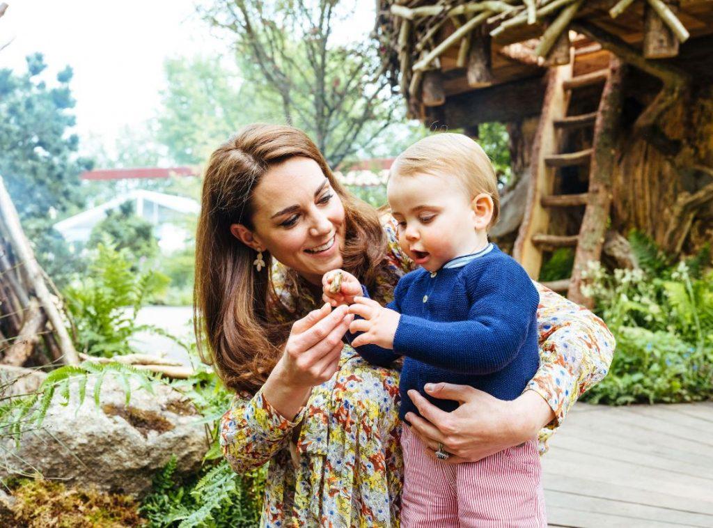 Keita Midltone kopā ar jaunāko dēliņu, princi Luisu pagājušā gada maijā.