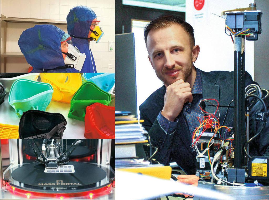 """Kristofers Celms, Baltijā pirmā 3D printeru izstrādes un ražošanas uzņēmuma """"Mass Portal"""" dibinātājs un līdzīpašnieks, RTU Dizaina fabrikas vecākais eksperts un projektu koordinators."""