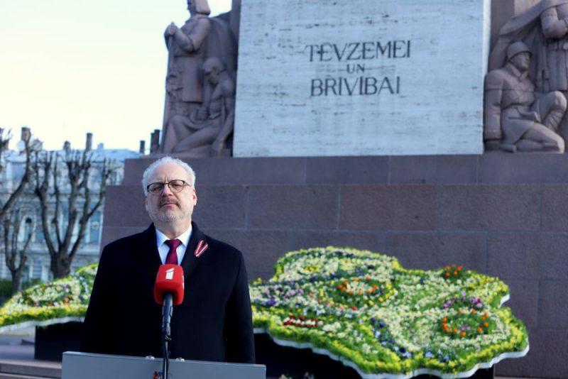 Valsts prezidents Egils Levits, 4. maijā uzrunājot tautiešus.