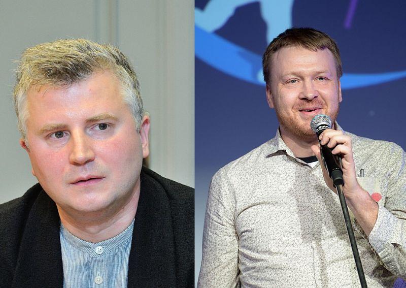 Dāvis Sīmanis (no kreisās) un Haralds Matulis.