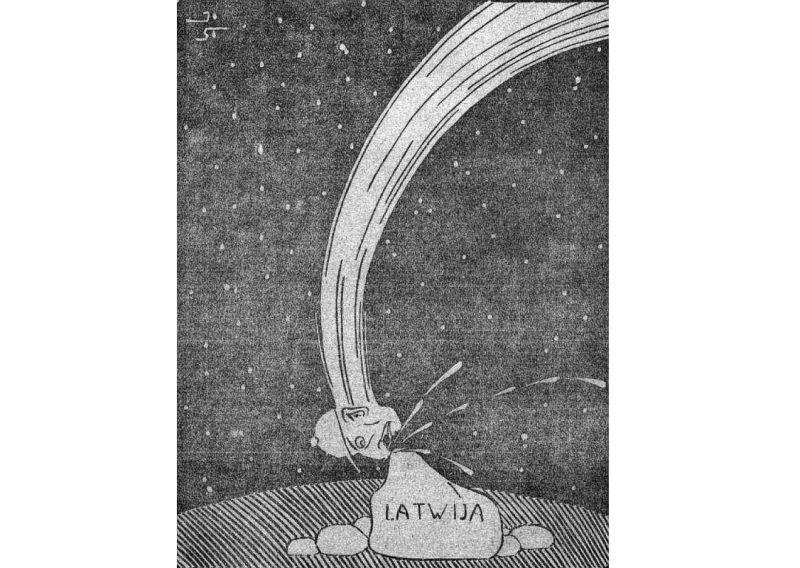 Baronu krišana – 1919. gada karikatūra.