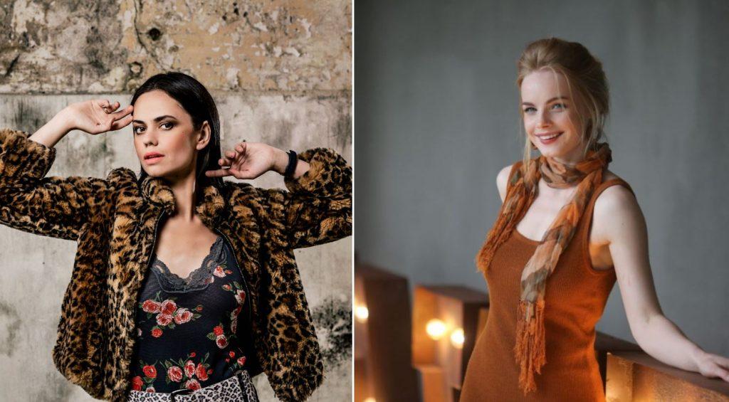 No kreisās: aktrise Dārta Daneviča un aktrise Ieva Florence-Vīksne.