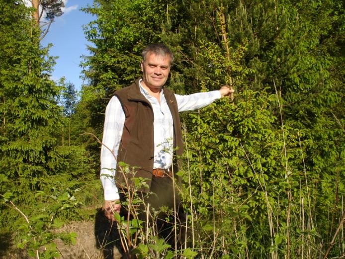 """Mežsaimniecības kooperatīva """"Mežsaimnieks"""" valdes priekšsēdētājs Grigorijs Rozentāls."""