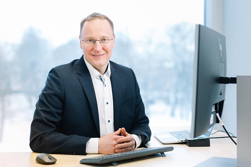 Uzņēmuma SIA PayRay vadītājs Mareks Basankovičs.