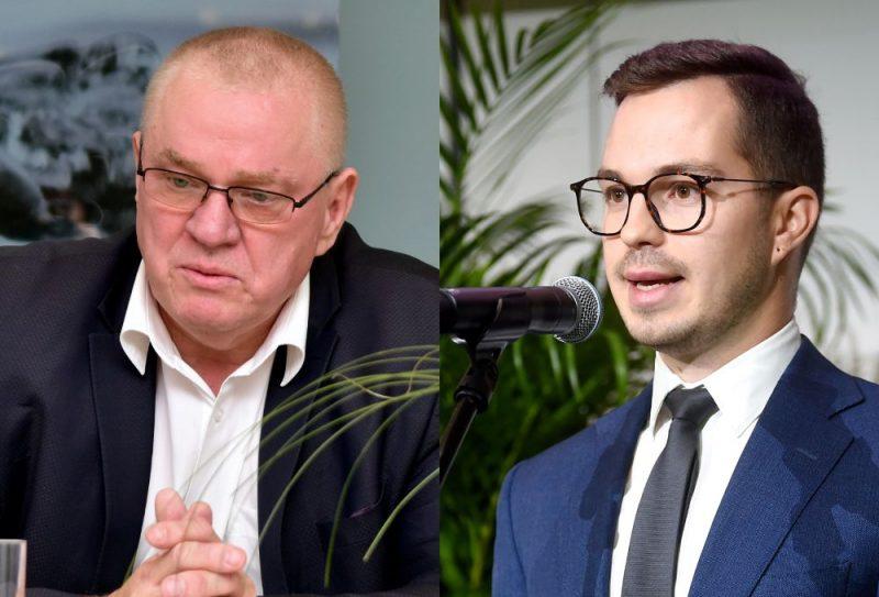 Indulis Trapiņš un Artūrs Toms Plešs.
