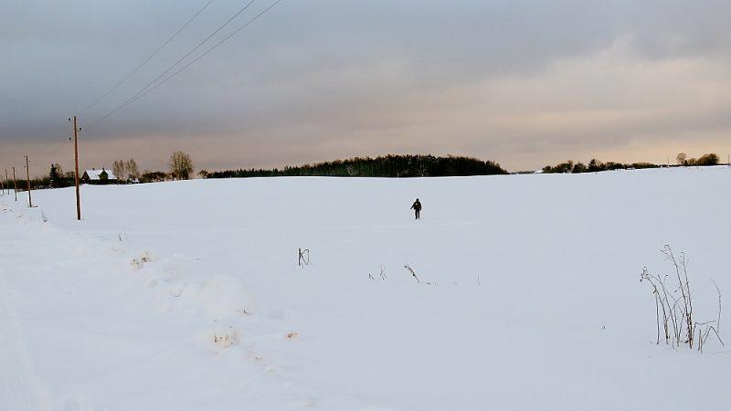 Vladimirs no mājām, kuras pieskata (attēlā pa kreisi), pa lauku devies uz savām mājām, kad no ceļa puses apmēram 50 metru attālumā mednieks uz viņu izšāva. Todien, 26. janvārī, šajā apkaimē nav bijis tik daudz sniega kā patlaban.