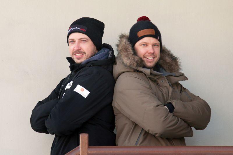 Kamaniņu divnieks brāļi Andris (no kreisās) un Juris Šici.
