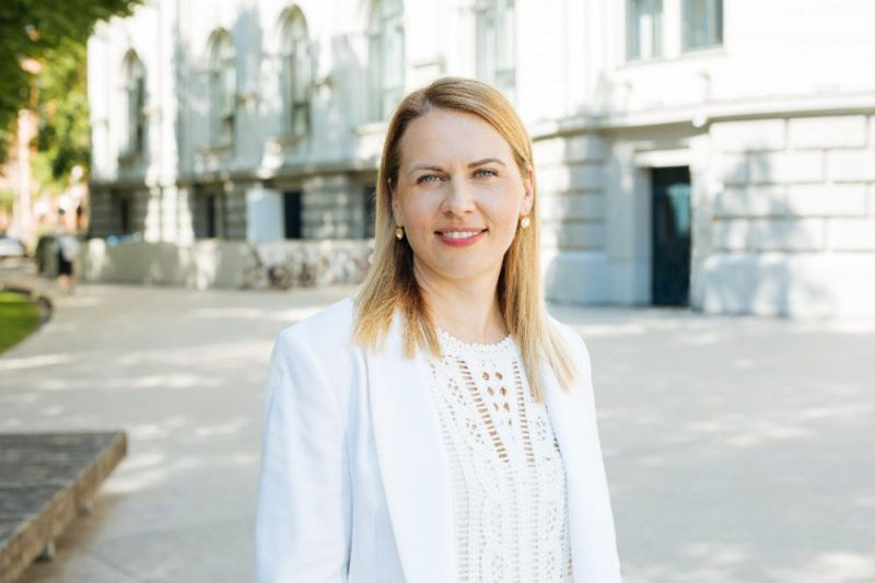Rīgas domes deputāte un basketboliste Anete Jēkabsone-Žogota.