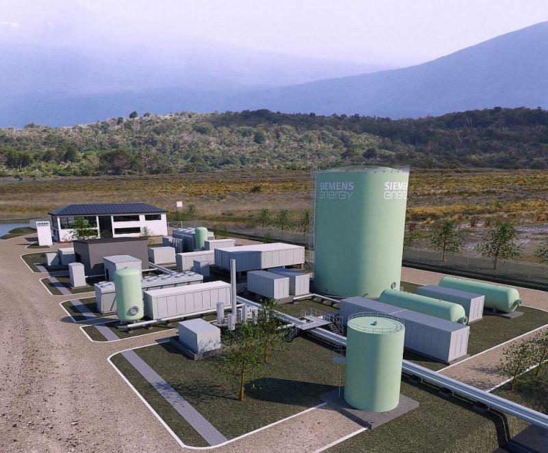 Jaunās degvielas pirmā rūpnīca Čīlē.